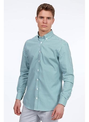 Hemington Kareli Uzun Kollu Gömlek Yeşil